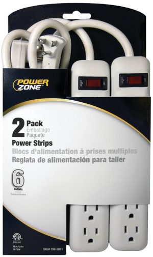 2 Pack Power Strip
