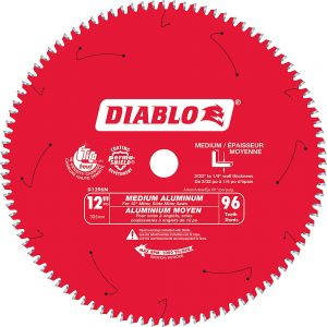 Diablo 12 In. Non-Ferrous Plastic Blade – 96 Teeth